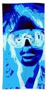 Blue Skier Bob Beach Towel