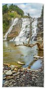 Blue Skies Over Ithaca Falls Beach Towel
