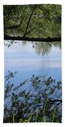 Blue Sky Reflection Beach Towel