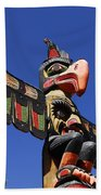 Blue Sky Totem Beach Towel