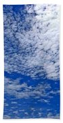 Blue Sky With Clouds Beach Towel