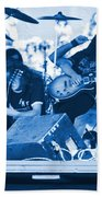 Blue Skynyrd Smoke Beach Towel