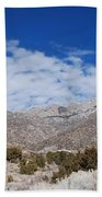 Blue Skys Over The Sandias Beach Towel