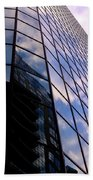 Blue Skyscrapper With A Blue Sky In New Orleans Louisiana Beach Towel