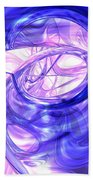 Blue Smoke Abstract Beach Towel