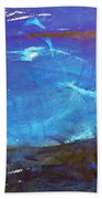 Blue Space Water Beach Towel