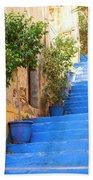 Blue Stairs Beach Towel
