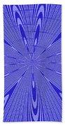 Blue Star Janca Abstract Beach Towel