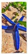 Blue Starfish Beach Towel
