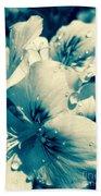 Blue Summer Flower Beach Towel