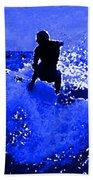 Blue Surf Beach Towel