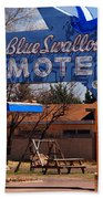 Blue Swallow Motel On Route 66 Beach Towel