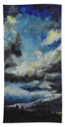Blue Tempest Beach Towel