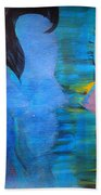 Blue Thoughts Beach Towel