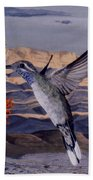 Blue Throated Hummingbird Beach Towel