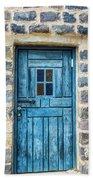Blue Traditional Door Beach Towel