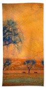Blue Trees And Dreams Beach Towel