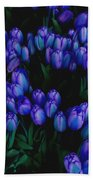 Blue Tulips Beach Towel