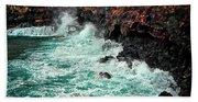 Blue Turmoil Beach Towel