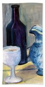 Blue Vases Beach Towel