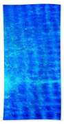 Blue Water Grid Abstract Beach Towel