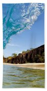 Blue Wave - Makena Beach Beach Towel