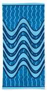 Blue Wave Over Wave Pattern On Gifts Shirts Pillows Tote Bags Phone Cases Shower Curtains Duvet Cove Beach Towel