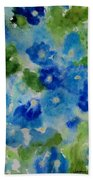 Blue Wet On Wet Beach Towel