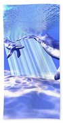 Blue Whales Beach Towel