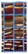 Blue Window 2 Beach Sheet