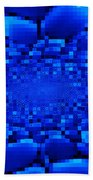 Blue Windows Abstract Beach Towel