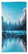 Blue Winter Fantasy. L B Beach Towel