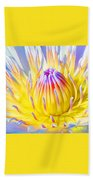 Blue Yellow Lily  Beach Towel