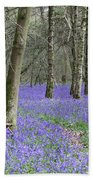 Bluebell Wood Effingham Surrey Uk Beach Towel
