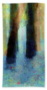 Bluebell Wood By V.kelly Beach Towel