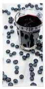 Blueberries And Blueberry Juice Beach Towel