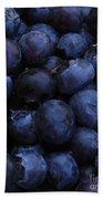 Blueberries Close-up - Vertical Beach Towel