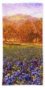 Blueberry Fields Season Of Blueberries Beach Towel