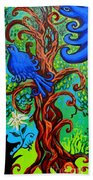 Bluebird In Tree Beach Towel