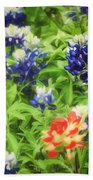 Bluebonnet Bouquet Beach Towel