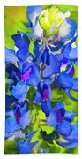 Bluebonnet Fantasy Beach Towel