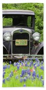 Bluebonnets And Fords Beach Towel