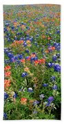 Bluebonnets And Paintbrushes 3 - Texas Beach Towel