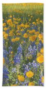Bluebonnets And Wildflowers Beach Towel