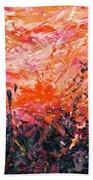 Bluegrass Sunrise - Crimson A-left Beach Towel