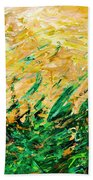 Bluegrass Sunrise - Olive B-right Beach Towel