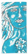 Blues Girl Beach Towel