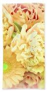 Blush Floral Bouquet Beach Towel