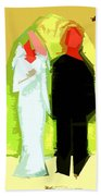 Blushing Bride And Groom 2 Beach Towel
