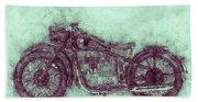 Bmw R32 - 1919 - Motorcycle Poster 3 - Automotive Art Beach Sheet